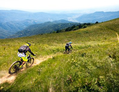 guided MTB tour from Matajur in soča valley