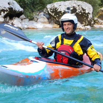 advanced kayak course on soca river bovec