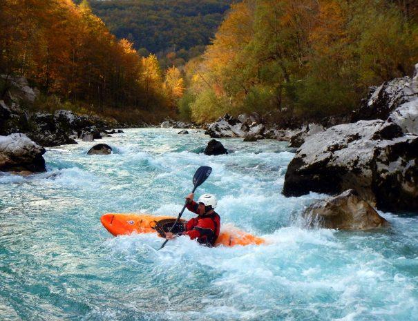 autumn colors on soča river