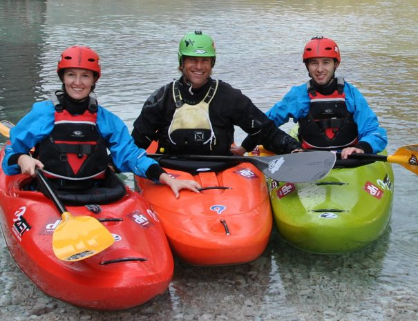 bovec adventure sports easy kayaking