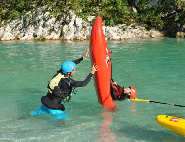 kayak yoga on soca river is the new thing to try