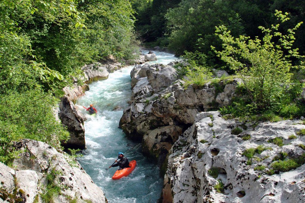 kayak koritnica river soca valley slovenia