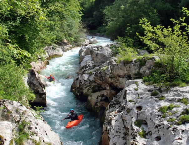 kayak koritnica river soca valley slovenia