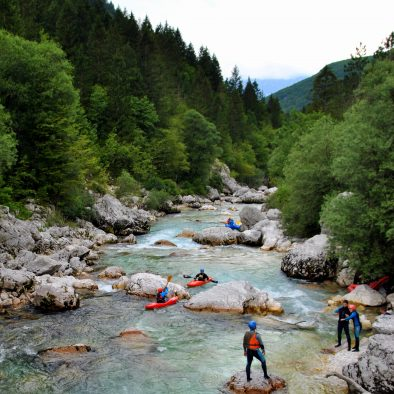 river scouting soca river on kayak course