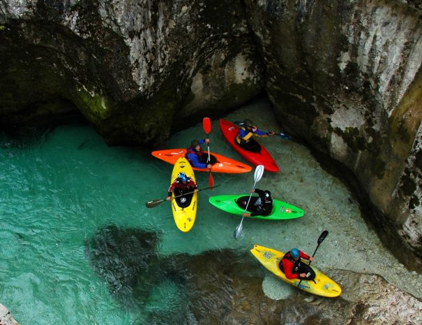 beautiful bovec secret river corners only seen by kayak
