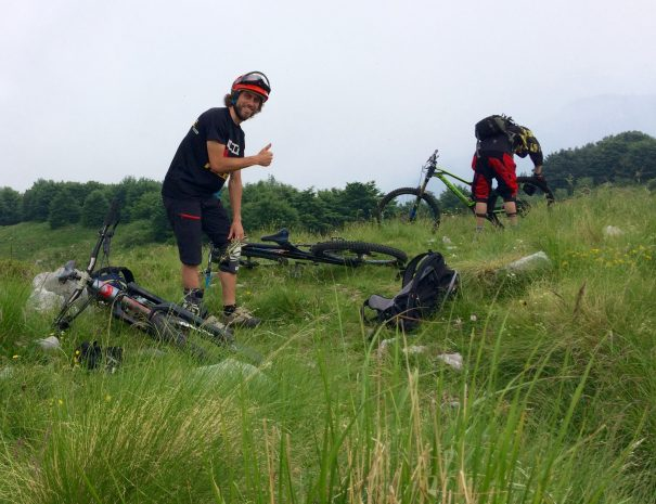 mtb in slovenia with friends is fun