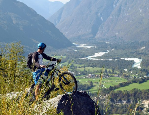 beautiful views of soča valley with your bike