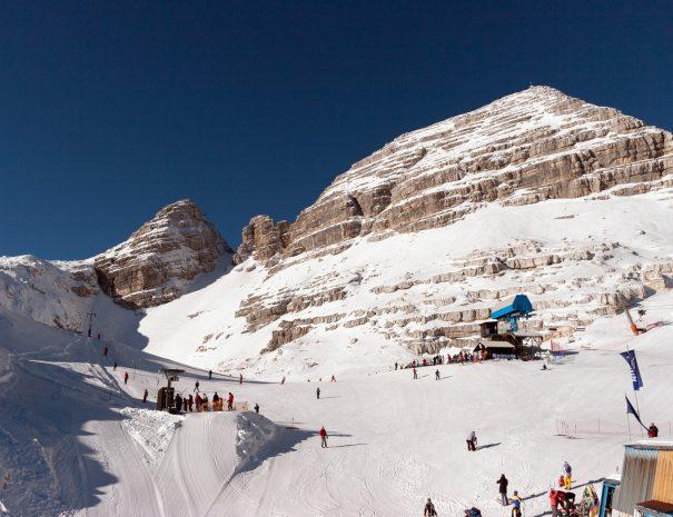 Kanin ski resort is full off natural snow