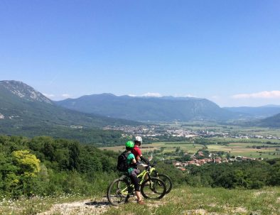 Join us on guided Čaven mountain bike tour in Vipava Valley, Slovenia