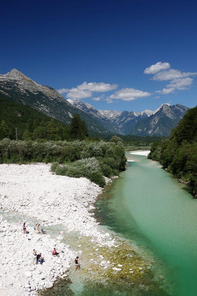 Swim and have a picnic in the Narnia movie scene on soča River in Bovec