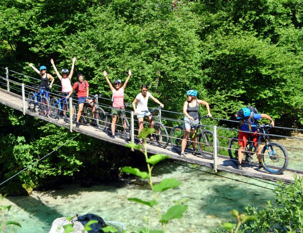mountain biking in bovec on easy trails