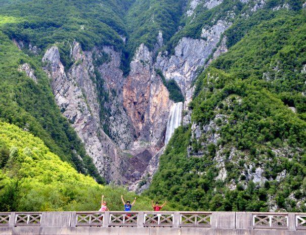 ride the best mountain bike trails around boka waterfall in slovenia