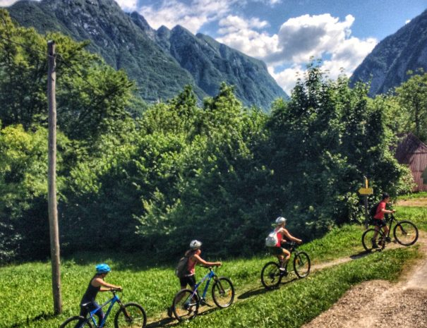 mountain biking for women in soca valley slovenia