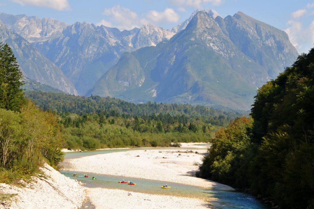 kayak soča river for beginner
