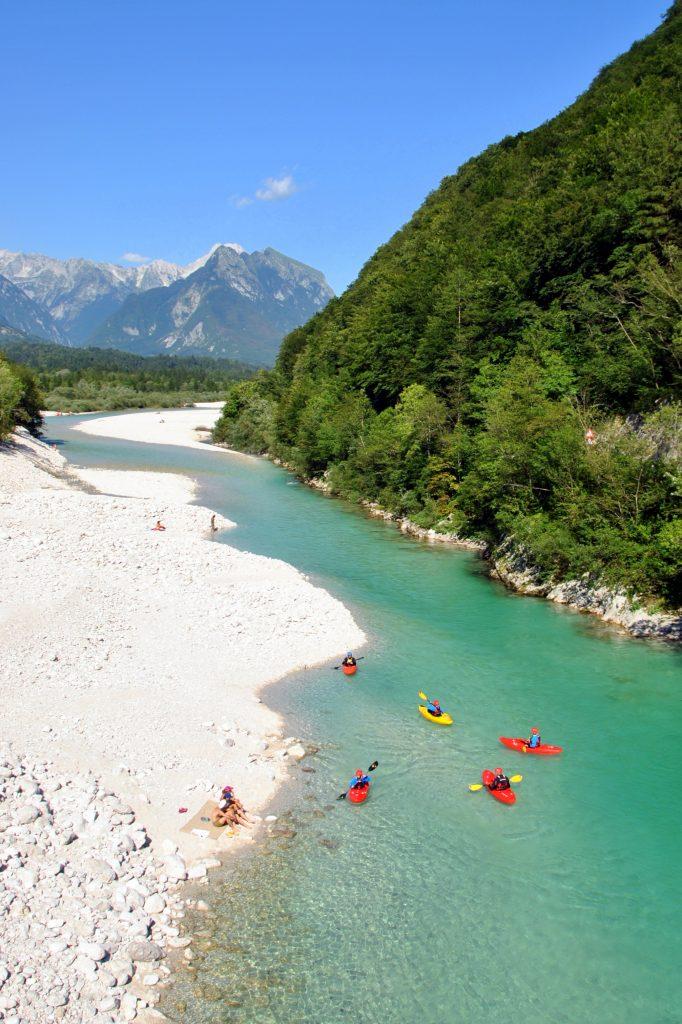 beginner kayak soca river easy beginner section